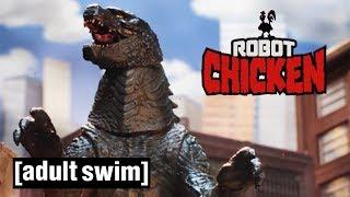 Robot Chicken | Godzilla: Deleted Scenes | Adult Swim UK 🇬🇧