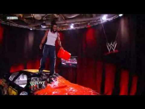 WWE RAW Kofi Kingston attacks Randy Orton's car!!! - YouTube