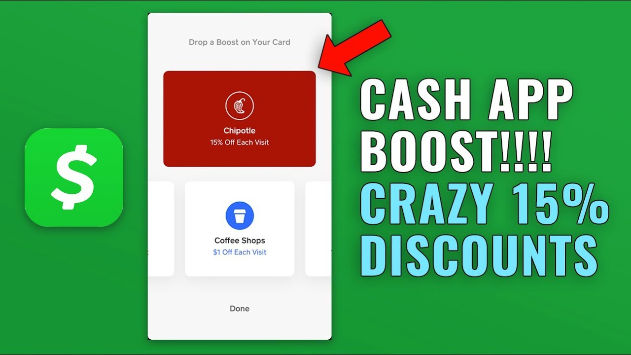 How to Use Cash App Boost - 15% off Chipotle Every Order