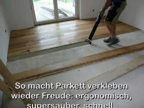 parkett kleben mit parkett x press volt youtube. Black Bedroom Furniture Sets. Home Design Ideas