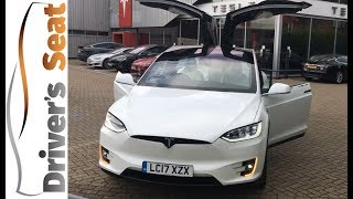 Tesla Model X dancing. The SUV that thinks it