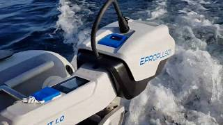 Onboard Inflatable Catamaran with Electric Motor