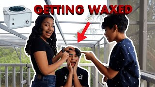 LETTING MY SISTER WAX ME!