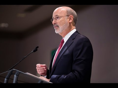 At Press Club, Governor Wolf Vows to Continue Fight for Severance Tax