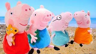 Приключения Свинки Пеппы на море. Мультики для малышей.
