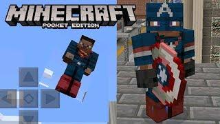Minecraft Pocket Edition | POCKET HEROES MOD! - SPIDERMAN, BATMAN, FLASH AND MORE!