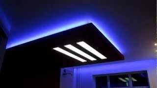 Светодиодная Подсветка потолка RGB от компании Арт-Мастер(Светодиодная подсветка RGB. Светодиодное освещение пришло на смену люминисцентным лампам и неону как сочета..., 2013-03-01T12:57:44.000Z)