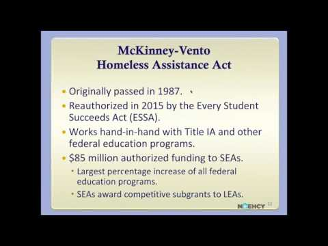 McKinney Vento in the Every Student Succeeds Act  An Introduction for Virginia s Liaisons