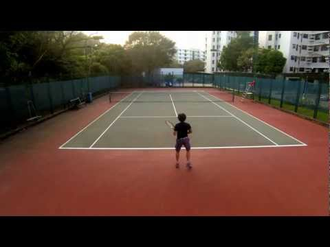 GoPro Hero3 tennis recording on pole at 1080p60fps (2x slowmo)