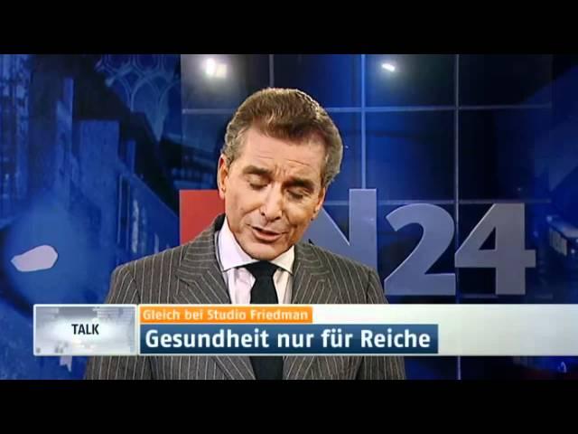 Studio Friedman - Zwei-Klassen-Medizin in Deutschland | 09.02.12 23:10 Uhr