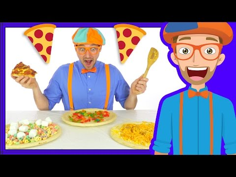 Thumbnail: Funny Fun Pizza Song by Blippi | Foods for Kids