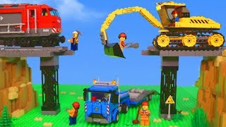 LEGO Toys: Train, Excavator, Truck, Cars & Tractor Toy Vehicles for Kids (BrickFilm)