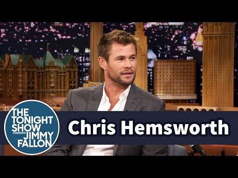 Chris Hemsworth Lets His Daughter and Nieces Paint His Nails