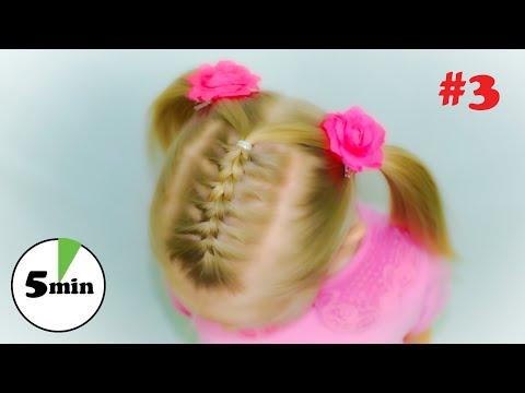 Как заплести короткие волосы ребенку