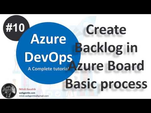 (#10) Create backlog in Azure Board | Azure devops tutorial for beginners