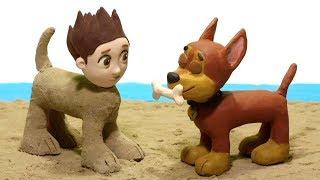 Paw Patrol sand costumes 💕 Superhero Stop motion videos for kids