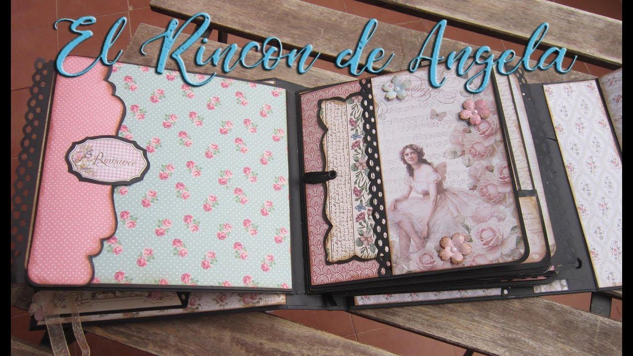2 album vintage diy manualidades scrap scrabooking scrapbook youtube - Manualidades album de fotos casero ...
