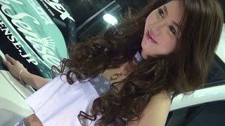 大阪オートメッセ2015 Sixth Senseブースの 美人なキャンギャル・コンパ...