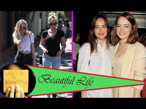 Melanie Griffith's daughters Dakota Johnson and Stella Banderas step out for green smoothies in LA