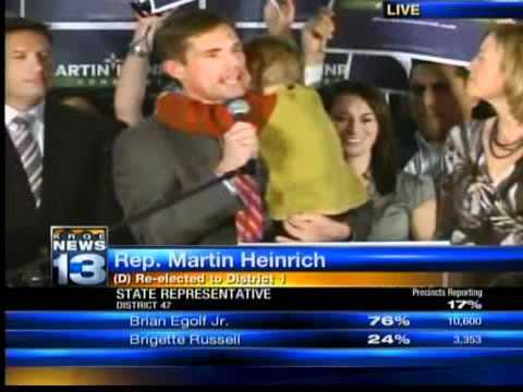 Martin Heinrich's victory speech