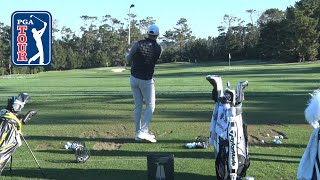 Dustin Johnson's range session at AT&T Pebble Beach 2020