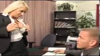 Sexy Blonde Boss Opening Hot Shirt