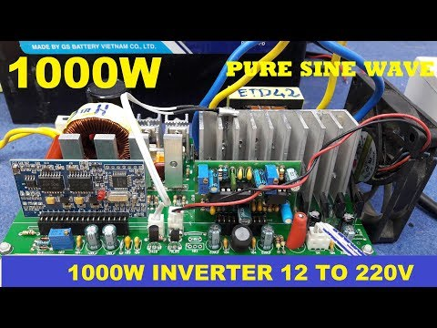 1000W 12V to 220V Sine Wave Inverter EGS002 ETD42 Transformer Ferrite Core Winding
