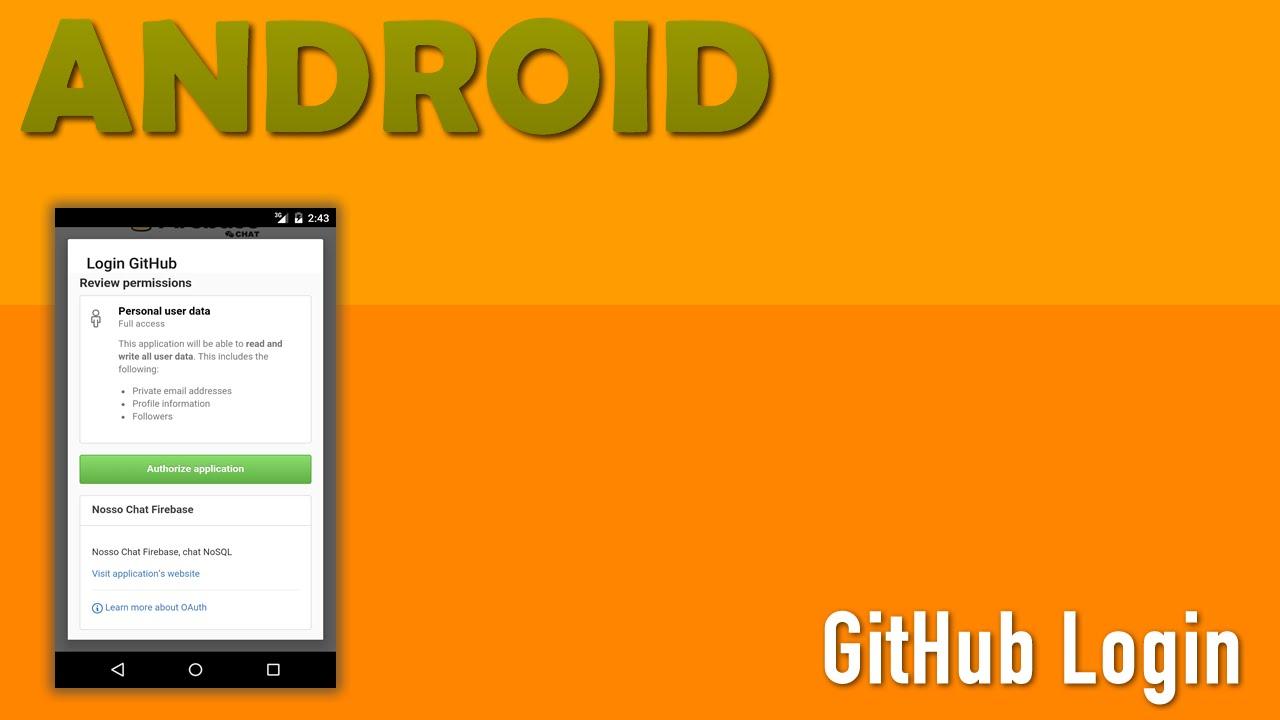 GitHub Login, Firebase Android - Parte 9