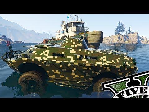 GTA V ONLINE DLC GUNRUNNING - NOVO TANQUE APC TERRA E ÁGUA