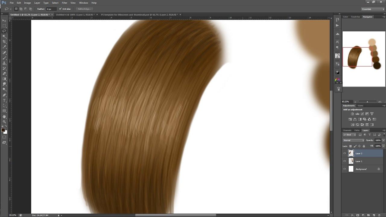how to paint hair digitally for beginners make a custom
