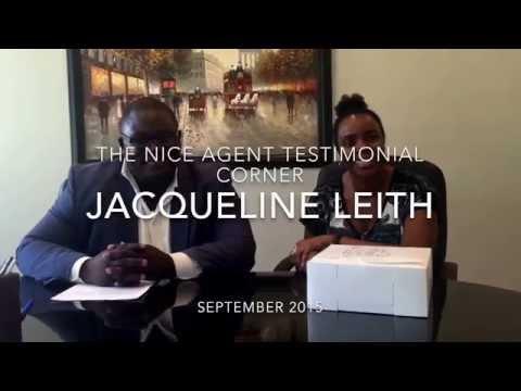 The nice agent testimonial corner : Jacqueline Leith