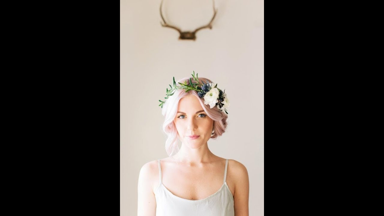 DIY Delicate Floral Crown by Flower Moxie YouTube