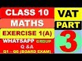 Concise Mathematics | Class 10 I ICSE  Chapter 1 - VAT EXERCISE 1(A) Q1 -Q6 - BOARD | learnviaelearn