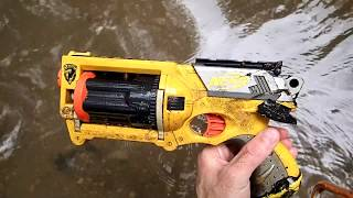 connectYoutube - Out River Hunting: Found Nerf Gun, Snake, and a Huge Log that washed up in the trees.