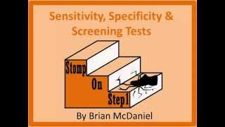 Sensitivity Specificity Screening Tests  Confirmatory Tests