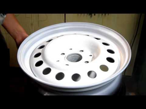 Malowanie felg stalowych na biało Scirocco Scala White Rims White Paint