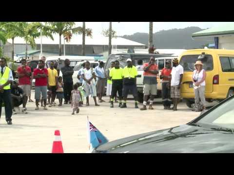 Fijian President HE Ratu Epeli Nailatikau arrives in Port Vila, Vanuatu