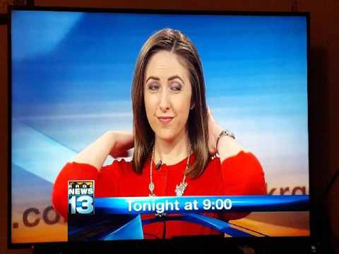 KRQE Anchor adjusts her hair