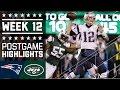 Patriots Vs. Jets | NFL Week 12 Game Highlights