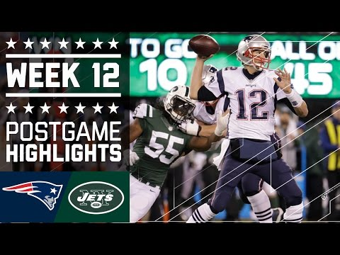 Patriots vs. Jets | NFL Week 12 Game Highlights