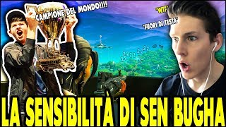 👉 THE SENSITIVITY of SEN BUGHA on FORTNITE ITA WINNER OF FORTNITE WORLD CUP! Absurd