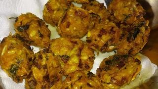 Chingri Macher Bora - Shrimp Pakora - Prawn Pakora - Five Minutes Prawn Recipe