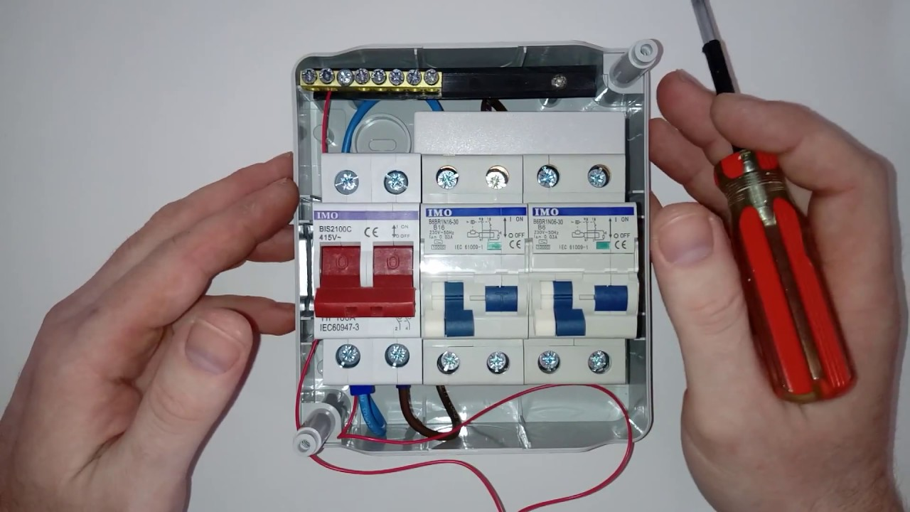 how to wire up a 240 volt consumer unit for your campervan or motorhome [ 1280 x 720 Pixel ]
