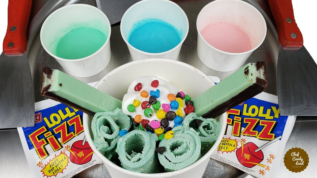 Fizzy Lollipops ASMR Ice Cream Rolls | Full Video @ Chef Candy Land