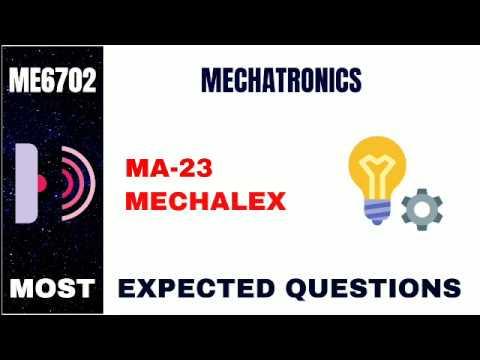 ME6702   MECHATRONICS   MOST EXPECTED QUESTIONS   MECHALEX   ANNAUNIVERSITY