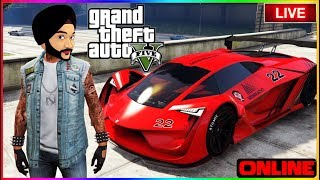 🔴 INDIAN PLAYING GTA 5 ONLINE - RACE STUNTS & LTS FUN #73 🔴