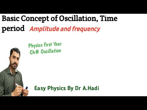 Basic concept of oscillation, time period ,amplitude and frequency Urdu Hindi by Dr Hadi
