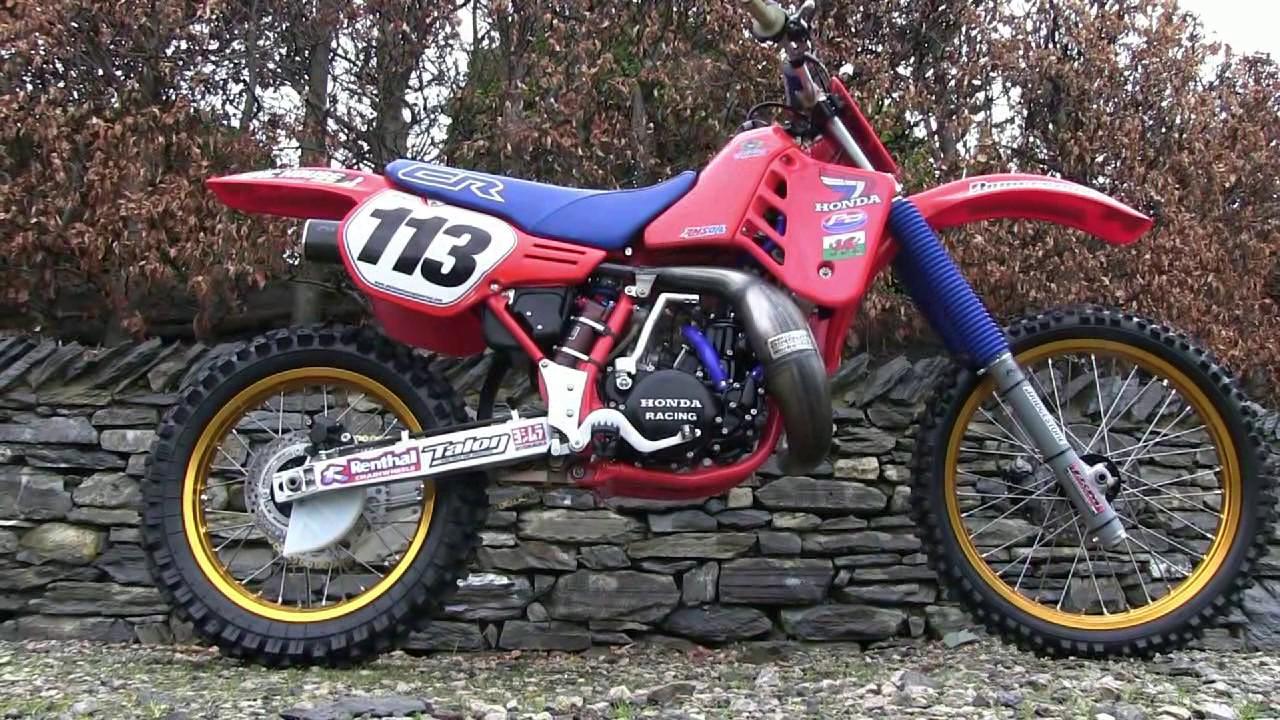Classic Dirt Bikes 1986 Cr 250 Honda Titanium Youtube