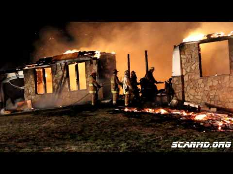 03/19/2011 - Soper Road Mega House Fire... Huntingtown, MD