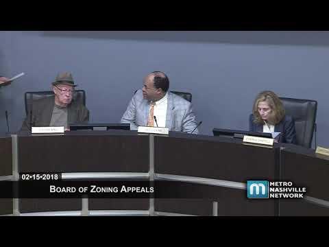 02/15/18 Zoning Appeals Board